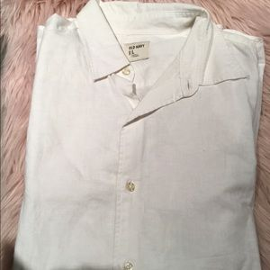 Men's shirt sleeve linen blend shirt